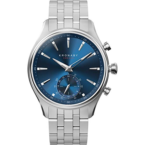 Silver Stainless Steel strap Stainless-steel case, Blue dial Quartz movement