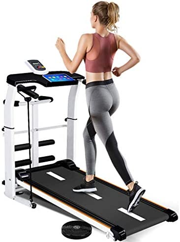 NBSR Folding Treadmill for Home,Treadmills for Women 340lbs Weight Capacity Silent Treadmill Folding Shock Running, Supine, Twisting, Draw Rope 4-in-1 Mechanical Mini Walking Machine 1