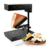 Electric Raclette Cheese Melter Machine - Table Top Stainless Steel Cheese Grill Melting Warmer Heater, Makes Swiss Style Cheese Sauce to Top on Potatoes, Burger, Nacho, Pasta - NutriChef PKCHMT18