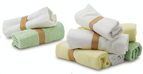 "Enovoe Bamboo Baby Washcloths - 8 Pack of Wash Cloths - Organic, Hypoallergenic, Reusable and Extra Soft for Sensitive Skin - 10""x10"" - Neutral Colors Washcloth"