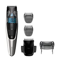Philips Norelco Beard Trimmer BT7215/49 - cordless grooming, rechargable, adjustable length, vacuum clipper, beard, stubble, and mustache groomer, (series 7200)  Image