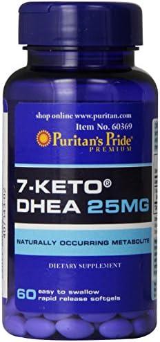 Puritan's Pride Rapid Release Softgels, 7-Keto Dhea, 25 mg, 60 Count 3