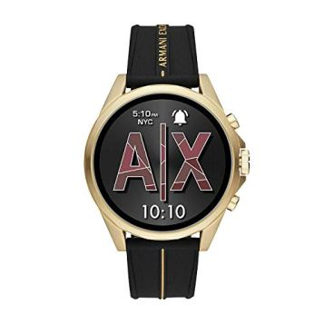 Armani-Exchange-Mens-Smartwatch-Powered-with-Wear-OS-by-Google-with-Heart-Rate-GPS-NFC-and-Smartphone-Notifications
