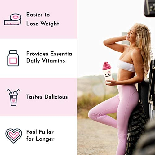 Cute Nutrition Vanilla Ice Cream Meal Replacement Shakes for Weight Loss Control & Energy for Women High Protein Low Calorie Low Sugar 17.63oz tub 7