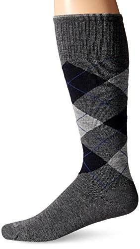 Sockwell Men's Argyle Graduated Compression Socks, Charcoal, Large/X-Large