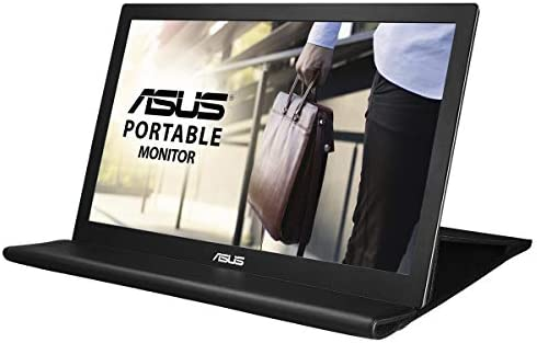 """ASUS 15.6"""" 1080P Portable Monitor (MB169B+) - Full HD, IPS, Auto-rotatable, Smart Case, Ultra-slim, Lightweight, Sleek, USB 3.0 Powered, For Laptop, PC, Phone, Console 19"""