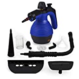 Comforday Multi Purpose Carpet High Pressure Chemical Free Steamer with with 9-Piece Accessories, Perfect for Stain Removal, Curtains, Car Seats,Floor,Window Cleaning Blue