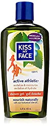 Kiss My Face Active Athletic Birch & Eucalyptus Reviving Moisturizing Shower Gel, Bath and Body Wash, 16 oz (Pack of 3)  Image