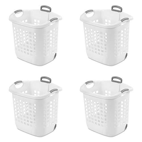 STERILITE 12248004 Laundry Basket, 62 L, White
