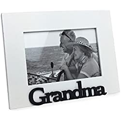 White Wood Sentiments Grandma Picture Frame