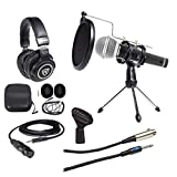 Samson PC Podcasting Podcast Streaming Bundle w/Microphone+Stand+Headphones