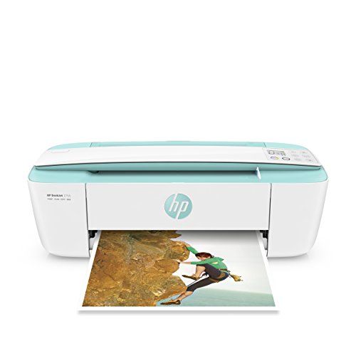 HP DeskJet 3755 Compact All-in-One Wireless Printer with Mobile Printing, Instant Ink ready - Seagrass Accent (J9V92A)