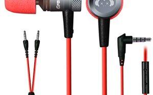 GranVela G10 3.5mm Jack Earphones With Microphone - Retail Packaging - Red