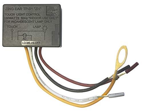 HQRP-Touch-Light-Switch-LO-ME-HI-Off-Table-Lamp-Module-Sensor-150W-120V