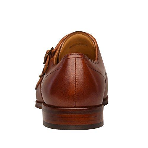 20219ac048da COMOTEK Men s Classic Double Monk Strap Full Grain Leather Shoes ...
