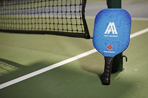 Amazin' Aces BAINBRIDGE' Pickleball Paddle (Pro Series) | Edgeless Composite Paddle | Aluminum Honeycomb Core With Graphite & Fiberglass Rimless Face | Includes Racket Cover With Shoulder Strap