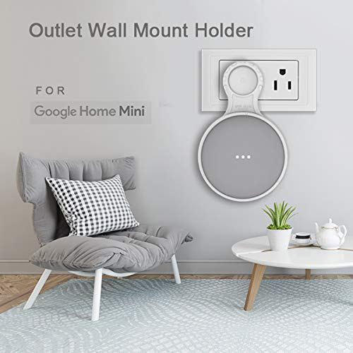 WGOAL-Outlet-Wall-Mount-Holder-Case-for-Google-Home-Mini-A-Clever-Space-Saving-Accessories-Perfect-Cord-Arrangement-for-Smart-Home-Speakers-Easy-Set-Up-1-Pack-White