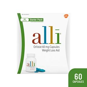 alli Diet Weight Loss Supplement Pills, Orlistat 60mg Capsules Starter Pack, Non prescription weight loss aid, 60 count 1