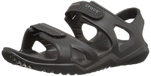 Crocs Men's Swiftwater River Sandal M Fisherman black/black, 7 M US
