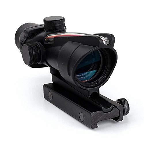 wipboten ACOG Rifle Scope 4x32 True Fiber Red Illuminated Crosshair BDC Gun Scopes