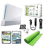 Nintendo Wii Black System HD Ready + Wii Fit Plus, Balance Board Mat Bundle