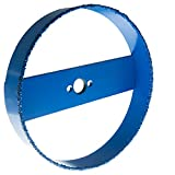 Blue Boar Recessed Light Carbide Grit Hole Saw 6-3/8' dia for 6 inch lights: fast cutting in drywall, lath & plaster, Hardi board: easy plug removal uses standard 5/8 18 thread hole saw arbor adptr