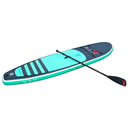 """Rokia R 10'6"""" Inflatable SUP Stand Up Paddle Board (6"""" Thick) iSUP for Fitness, Yoga, Fishing on Flat Water, Blue"""