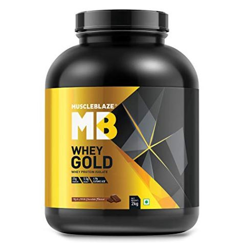 MuscleBlaze Whey Gold 100% Whey Protein Isolate (Rich Milk Chocolate, 2 kg / 4.4 lb)