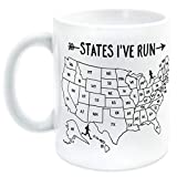 Running Ceramic Coffee Mug | States I've Run Outline