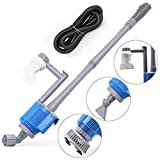 Upettools Removable Multifunctional Water Pump, 110V Handheld Electric Water Changer + Sand Washer + Aquarium Cleaner Pump + Filter for Aquarium Fish Tank Pond(28W) (Water Changer)