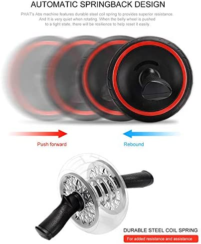 ACEmedia Ab Wheel Roller with Knee Pad Pro Fitness Equipment Ab Workout Machine Abdominal Wheel Exercise Equipment Home Gym Core Training 9
