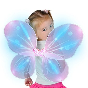 Fun Central O774, 1 Pc, LED Pink Butterfly Wings for Kids, F