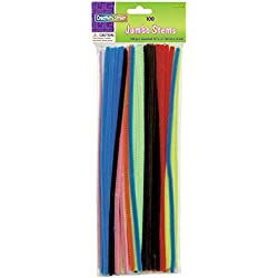 Creativity Street Chenille Stems/Pipe Cleaners 12 Inch x 6mm 100-Piece, Assorted Colors
