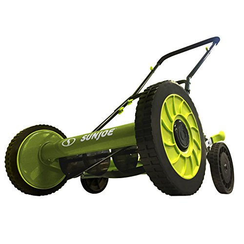 Sun Joe MJ504M Push Manual Reel Mower Without Grass Catcher, 16', Green
