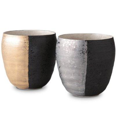Arita-yaki ZEN pair shochu sake Cup handmade (370 cc) by Nishinihon-tohki