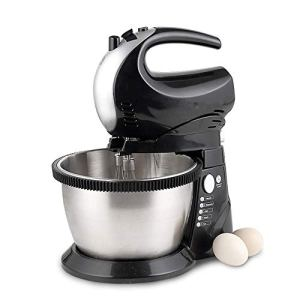 WJSW Food Mixer, 2 in 1 Stand Mixer Have 5-Speed Setting Cake Mixer 2.8L Automatic Rotating Bowl and 6 attachments Beater, Dough Hook & Whisk 41Iz o 2B2BIL