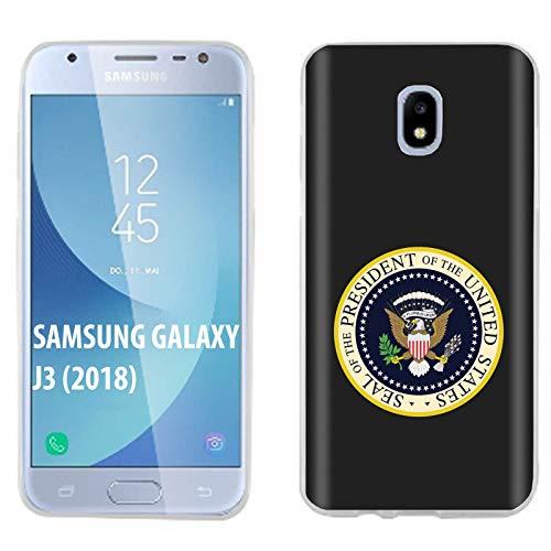 [Case86] Samsung Galaxy J3 2018/Amp Prime 3/Express Prime 3/Achieve/Star/J338 [Clear] Gelflex Phone Case [US Seal Print]