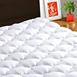 TEXARTIST Mattress Pad Cover King, Cooling Mattress Topper, 400 TC Cotton Pillow Top with 8-21' Deep Pocket