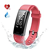 Lintelek Fitness Tracker, Heart Rate Monitor, Activity Tracker IP67 Waterproof, Sleep Monitor Remote Camera, Multiple Sports,Pedometer, Smart Watch for Kids Women and Men