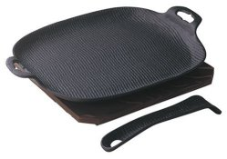 Oigen Nambu Ironware U-33 Frying Pan Grill Solid Type Black Color