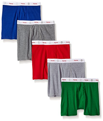 Hanes Toddler Boys 5-Pack Boxer Brief, Assorted, 4