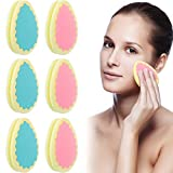 6 Pieces Hair Removal Sponge Depilation Pads Painless Hair Removal Sponge for Face, Leg, Arm and Body Physical Hair Removal Tool