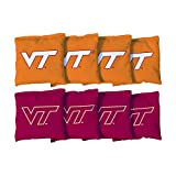 Victory Tailgate NCAA Collegiate Regulation Cornhole Game Bag Set (8 Bags Included, Corn-Filled) - Virginia Tech Hokies
