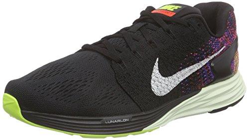 Nike Men's Lunarglide 7 Black/Sail/Bright Crimson/Volt Running Shoe 11 Men US
