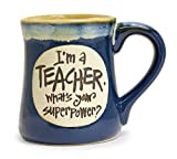 burton+BURTON I'm a Teacher Superpower Deep Blue 18 Oz Coffee Tea Mug (Blue), The Best Teacher Appreciation Gift