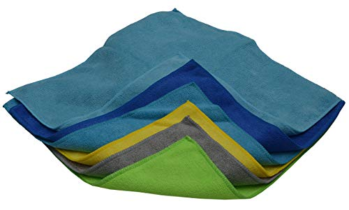 SOBBY Microfibre Cleaning Cloth - 40 cm x 40 cm - 340 gsm, (Multicolor, Pack of 4) 6