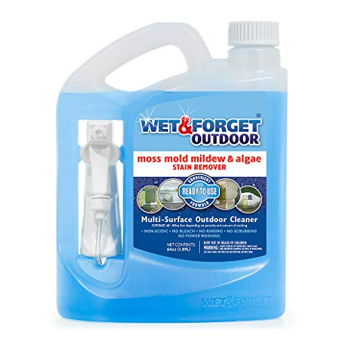 Wet & Forget Outdoor Ready To Use Moss, Mold, Mildew & Algae Stain Remover, 64 OZ. - 804064