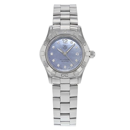 41JGXUIbFeL Stainless steel bracelet Stainless steel round case with 11 diamond hour markers Stainless steel unidirectional rotating bezel