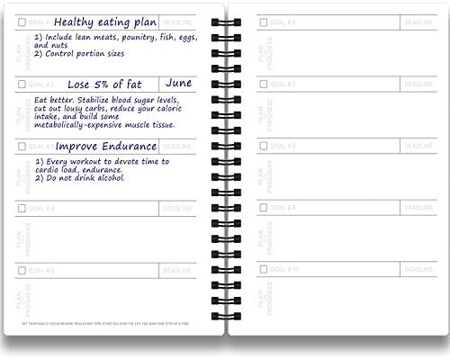 Cossac Fitness Journal & Workout Planner - Designed by Experts Gym Notebook, Workout Tracker,Exercise Log Book for Men Women 6