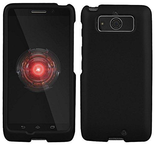 Motorola Droid Mini XT1030 Case - Black Rubber Feel coated Hard Snap-On Cover (Verizon)